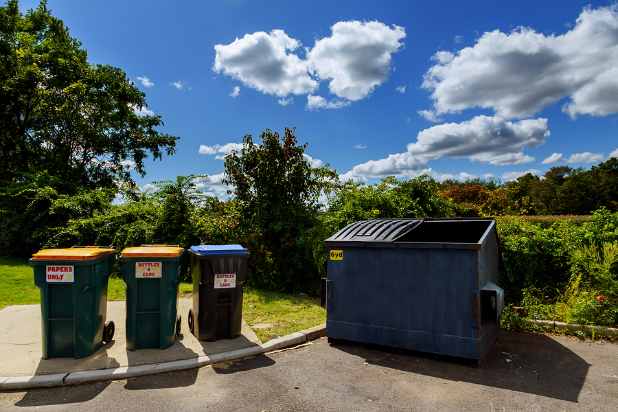 dumpsters ready for junk removal